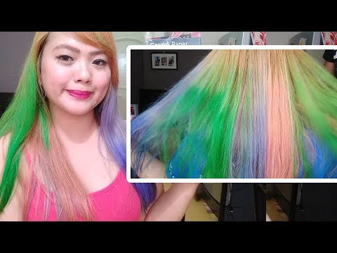 HOW TO COLOR HAIR USING CREPE PAPER for 14 Pesos only! | Colorful DIY Hair Dye