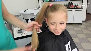 видео Детские прически: на длинные волосы