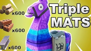 How To Get Triple Mats From A Llama in Fortnite Battle Royale