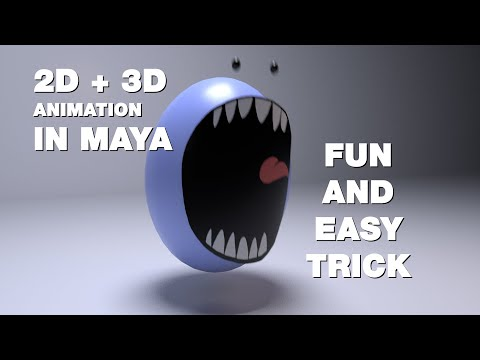 2D + 3D in Maya! Fun Beginner Tutorial thumbnail