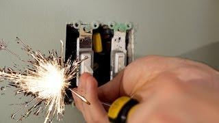 ELECTROCUTION CAUGHT ON CAMERA!