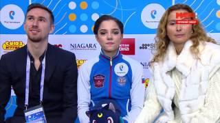 2016-12-23 - Чемпионат России | Комментарии фигуристок после короткой программы (Live)