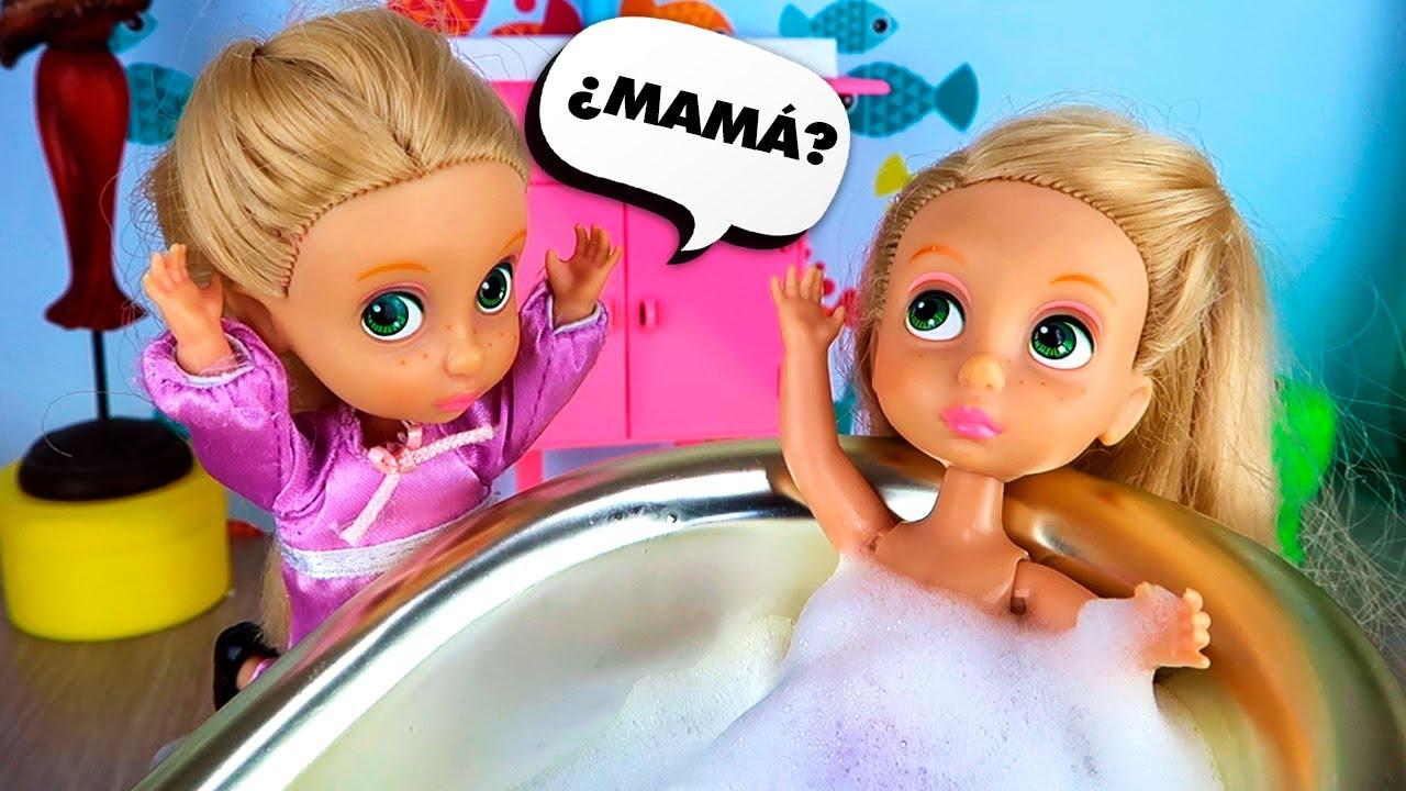 👶 ¡Mamá Rapunzel se Convierte en Bebé! - Las Junior