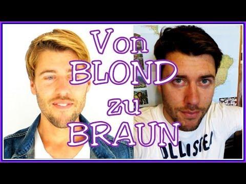 [Vorher/ Nachher] Von BLOND zu BRAUN - Das Experiment - Haare färben / tönen
