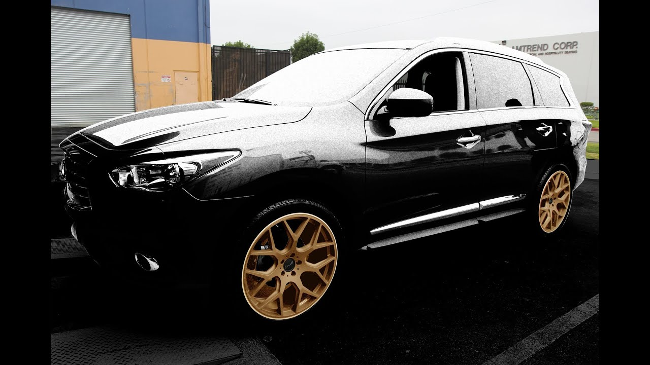Gianelle puerto 22x9 wheels on a 2013 infiniti jx35qx60 youtube vanachro Choice Image