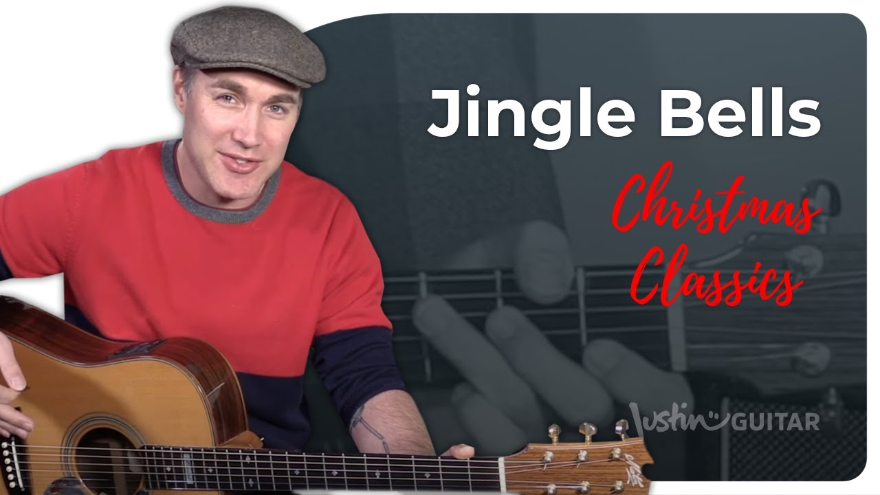 Jingle Bells Guitar Lesson Tutorial Chords Strumming Easy Christmas ...