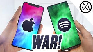 Apple and Spotify are officially AT WAR.