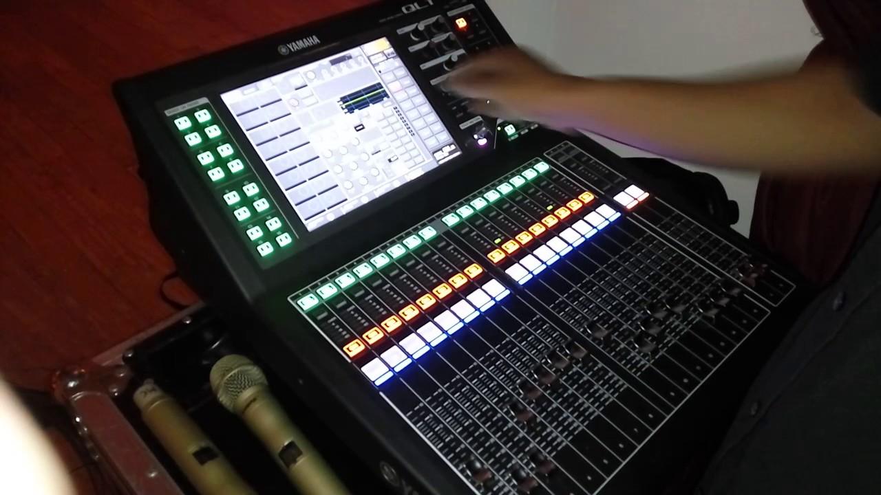 Mixer yamaha ql1 youtube for Yamaha ql 3