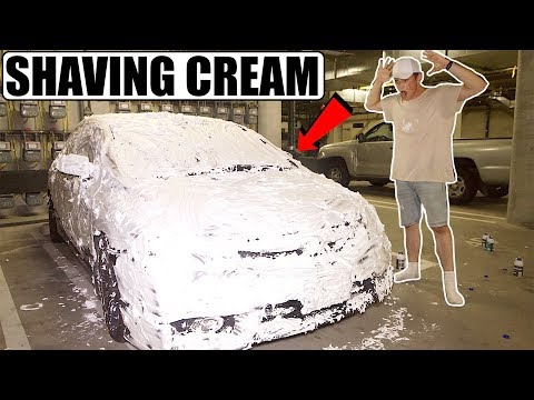 I COVERED MY ROOMMATE'S CAR IN SHAVING...