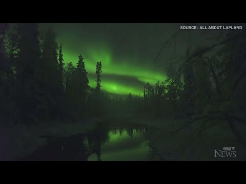 Watch: Stunning display of northern lights in Finland