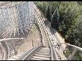 Silver Comet Wooden Roller Coaster Front Seat POV 1999 Martin's Fantasy Island