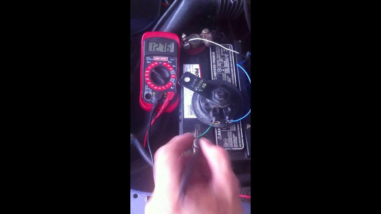 medium resolution of car horn 12v direct test