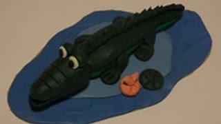 Уроки лепки для детей.Урок 11. Крокодил