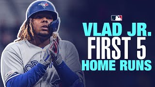 Vlad Jr39s first 5 career home runs