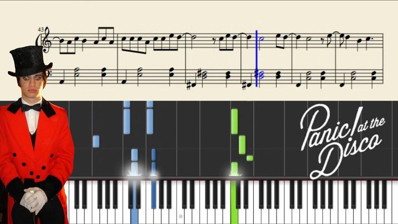 Panic At The Disco I Write Sins Not Tragedies Piano Tutorial