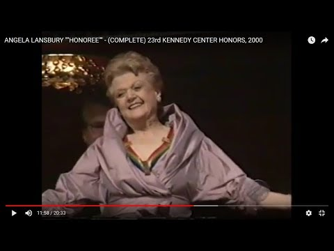 "ANGELA LANSBURY """"HONOREE"""" - (COMPLETE) 23rd KENNEDY CENTER HONORS, 2000"
