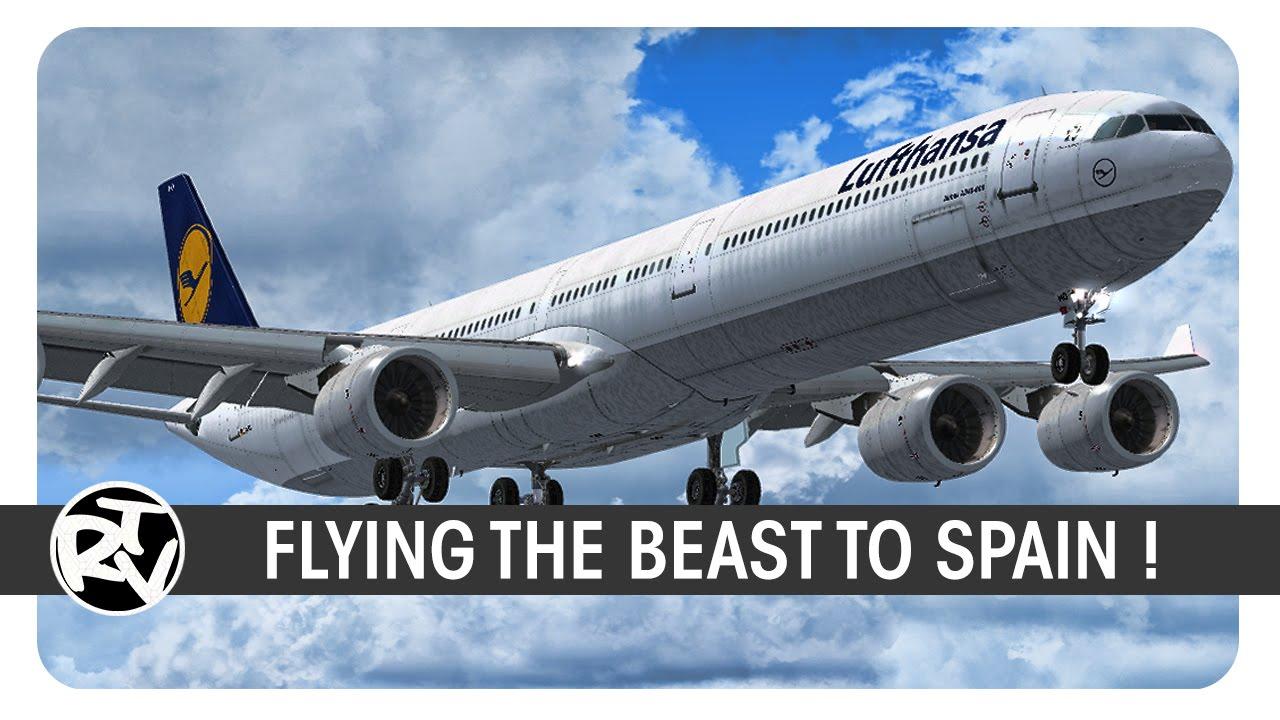 [FSX]   BlackBox A340-600   Lufthansa   LH1518   Barcelona Arrival