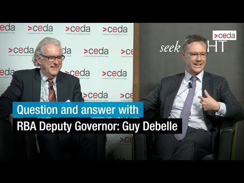 Deputy Governor of RBA, Guy Debelle answers questions from audience