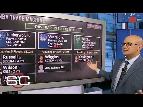 NBA Trade Machine: How The Warriors, Bucks & Timberwolves Pull Off A Blockbuster Deal | SportsCenter