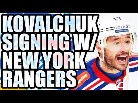 ILYA KOVALCHUK SIGNING W/ NEW YORK RANGERS: $6 MILLION CONTRACT NHL RETURN - KHL / New Jersey Devils