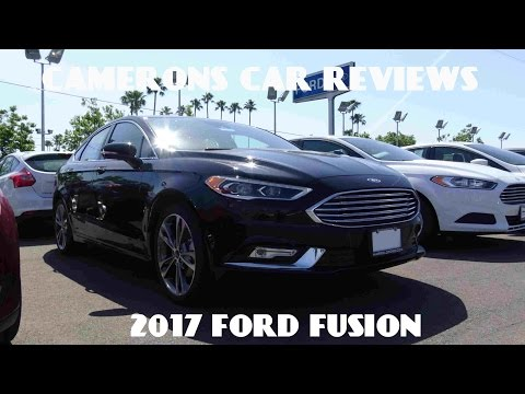 2017 Ford Fusion Titanium 2.0 L Turbo 4-Cylinder Review | Camerons Car Reviews