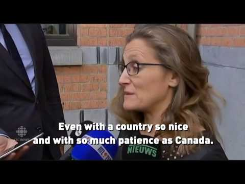 Minister Freeland near tears as Canada-Europe free trade deal tanks