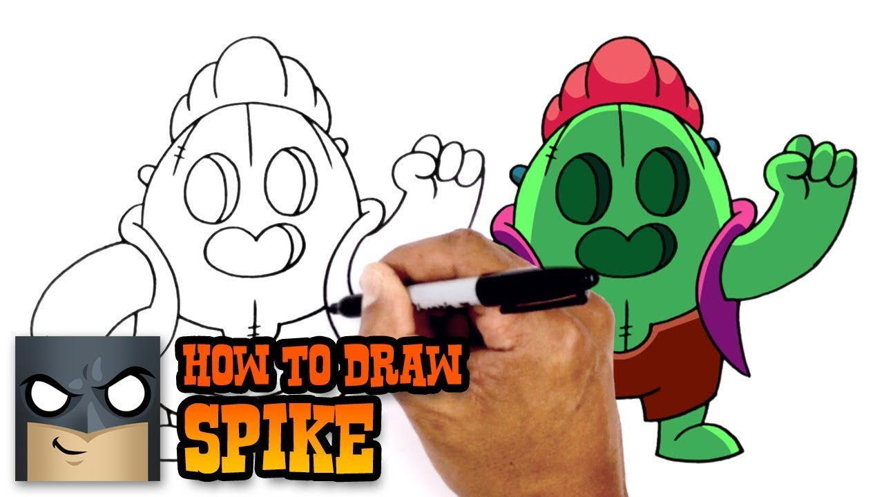 How To Draw Brawl Stars Spike Youtube