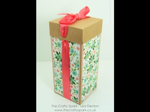 "Beautiful Tall Gift Box for Glass or Ceramic Gift - 12"" Cardstock, Birthday Bouquet Stampin' Up!"