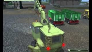 Скачать бесплатно Пак Экскаваторов погрузчиков Fortschritt T174 для игры  Farming Simulator 2013