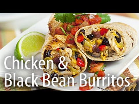 Inspired Cooking presents: Chicken & Black Bean Burrito