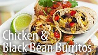 Inspired Cooking Presents: Chicken & Black Bean Burrito