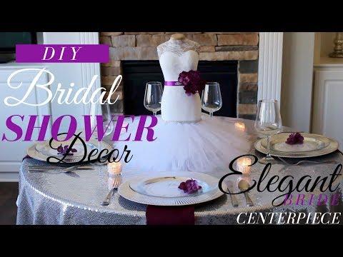 DIY ELEGANT BRIDAL SHOWER DECORATIONS | DIY BRIDAL SHOWER CENTERPIECE | DRESSMAKER CENTERPIECE