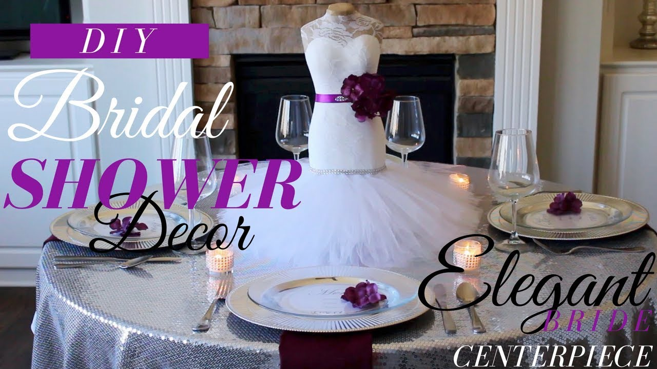 Diy Bride Centerpiece Bridal Shower Decorations Ideas