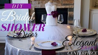 DIY Bride Centerpiece | Bridal Shower Decorations | Bridal Shower Ideas