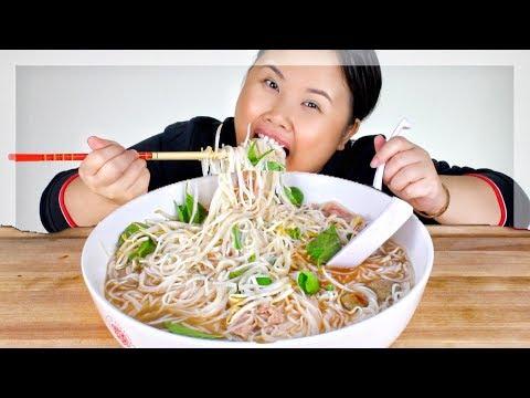 A MASSIVE BEEFY PHO NOODLE BOWL MUKBANG 먹방 | EATING SHOW