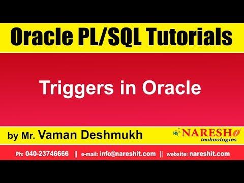 oracle-pl/sql-tutorials- -triggers-in-oracle- -by-mr.vaman-deshmukh