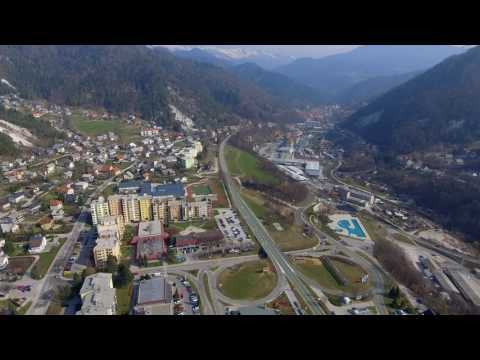My city from the AIR - Trzic, Slovenia