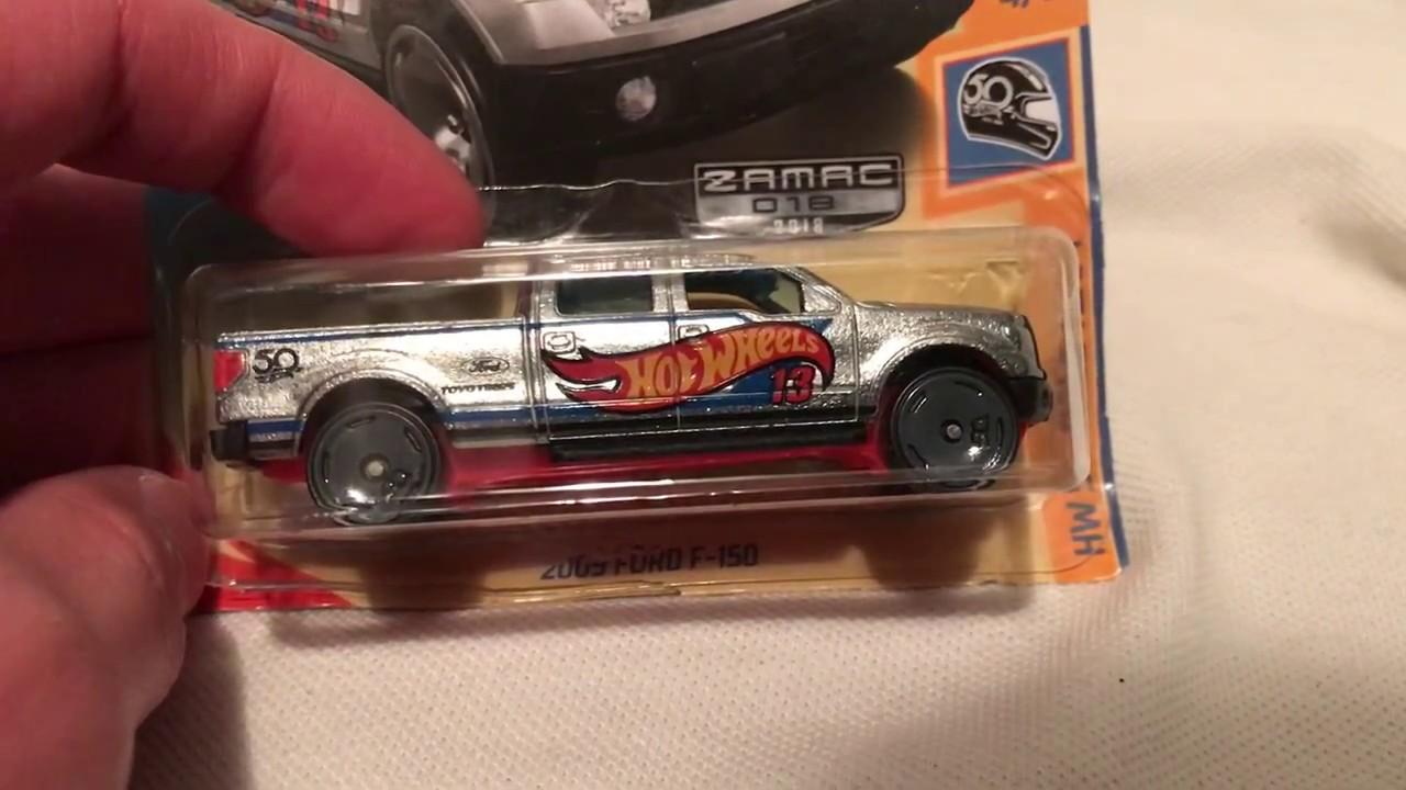 Hot Wheels 2009 Ford F-150 Pickup (2018 Walmart Zamac - HW 50th Race Team)