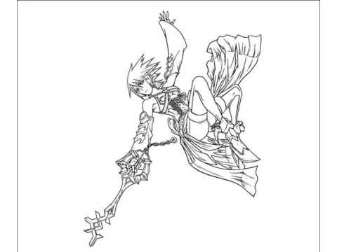Coloring Kingdom Hearts Aqua YouTube