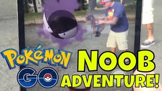 Video Let's Play POKEMON GO! First Time NOOB Adventure (Family Friendly) download MP3, 3GP, MP4, WEBM, AVI, FLV Juli 2018