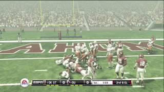 NCAA Football 12 gameplay: Oklahoma State vs. Oklahoma (Xbox 360)