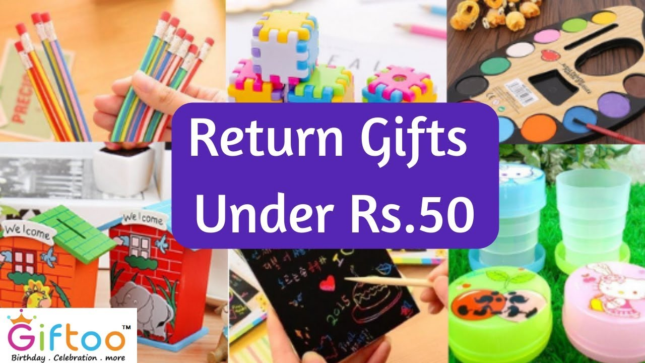 Return Gifts Ideas Under Rs.50 for kids birthday party, Shop From Giftoo.in