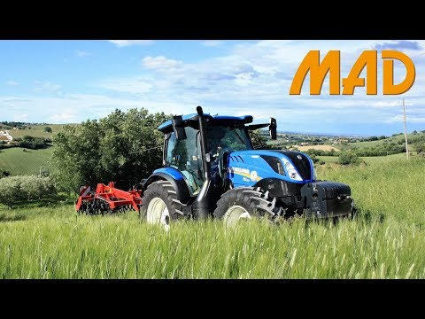 New Holland T6.155 Dynamic Command | coltivatore Kongskilde Vibro Flex