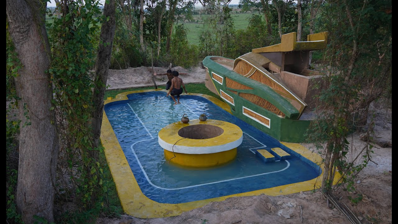 Awesome Build Creatively Boat House Design,Groundwater Well & Underground Beautiful Swimming Pool