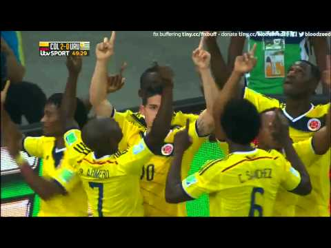 Colombia 2 Uruguay 0 James Rodriguez Pache Andrade
