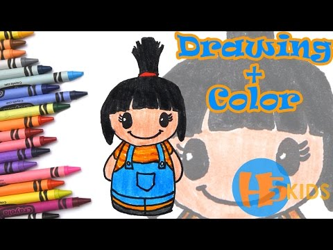 How To Draw Agnes - Despicable Me 3 - Easy - Kids Drawing Tutorial Art & Drawing For Kids
