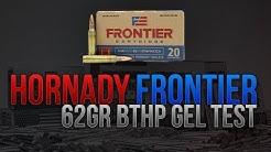 Home Defense .223 On A Budget? Hornady Frontier 62gr BTHP Gel Test