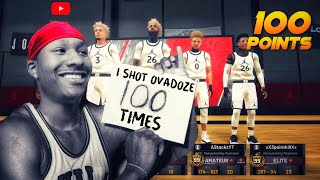 I scored over 100 points in the REC CENTER with 3 99 overalls on my team. Best Jumpshot NBA 2K19!