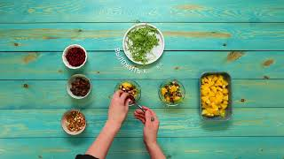 Рецепт недели: салат из апельсинов с клюквой и финиками