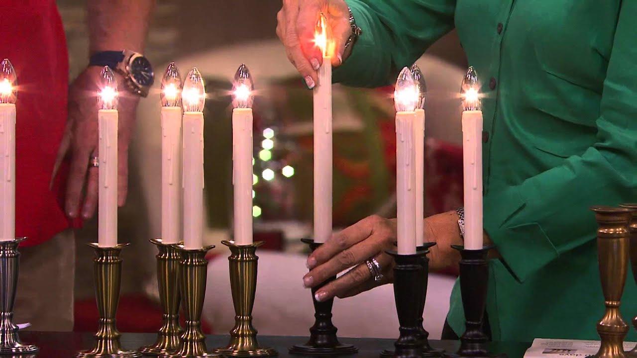 Bethlehem lights window candles with timer - Set Of 4 Window Candles With Timer By Valerie With Rick Domeier